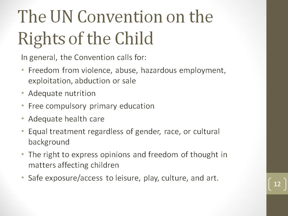 the welfare of children links and missing connections among  the un convention on the rights of the child